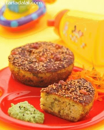Protein cup cakes, kids love attractive looking food – this variation of the traditional gujarati snack uses mixed flour and bottle gourd batter baked in muffin moulds. A yummy and protein rich treat that aids in their growth and development.