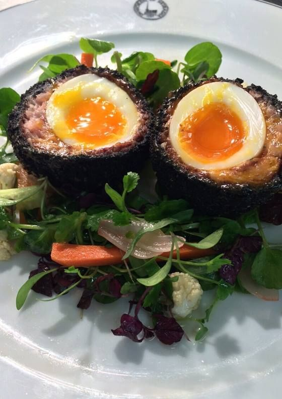Stornoway black pudding Scotch hen's egg