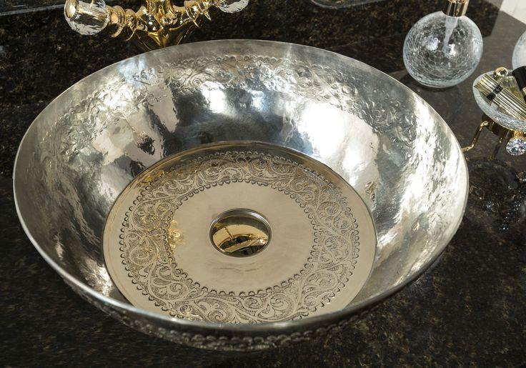 Countertop washbasin / silver / contemporary / round SILVER 1 41cm BLEU PROVENCE