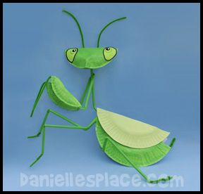 Pray without Ceasing - 1 Thes. 5:17 - Praying Mantis Paper Plate Bible Craft from www.daniellesplace.com