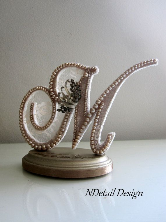 wedding cake topper letter wedding cake topper monogram letter m in by ndetaildesign 8805