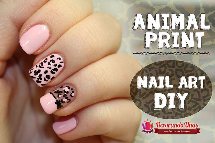 Animal print – Nail art DIY – Tutorial paso a paso | Decoración de Uñas - Manicura y Nail Art