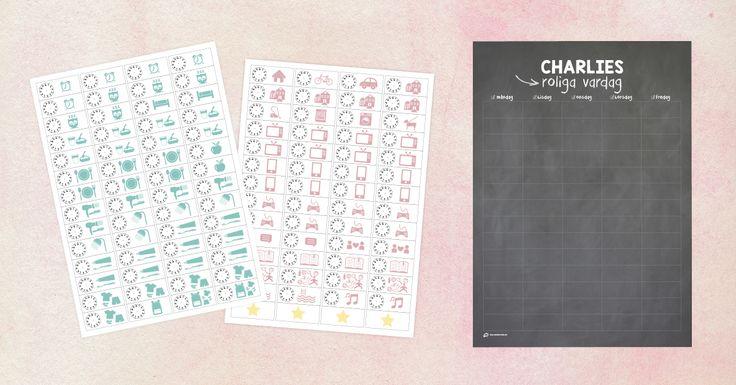 Med vår vardagskalender får du vardagen att flyta på. Med de avtagbara etiketterna skapar du tillsammans med ditt barn ett enkelt och tydligt schema. Välj den etikett som passar dagens händelser och aktiviteter och fyll i det klockslag som passar just era rutiner. Barnet får en kalender med sitt namn på som dessutom är snygg på väggen! Finns i färgerna turkos, rosa och griffel. Kalender i papper, A3-format (297×420 mm). 112 avtagbara etiketter i papper ingår.