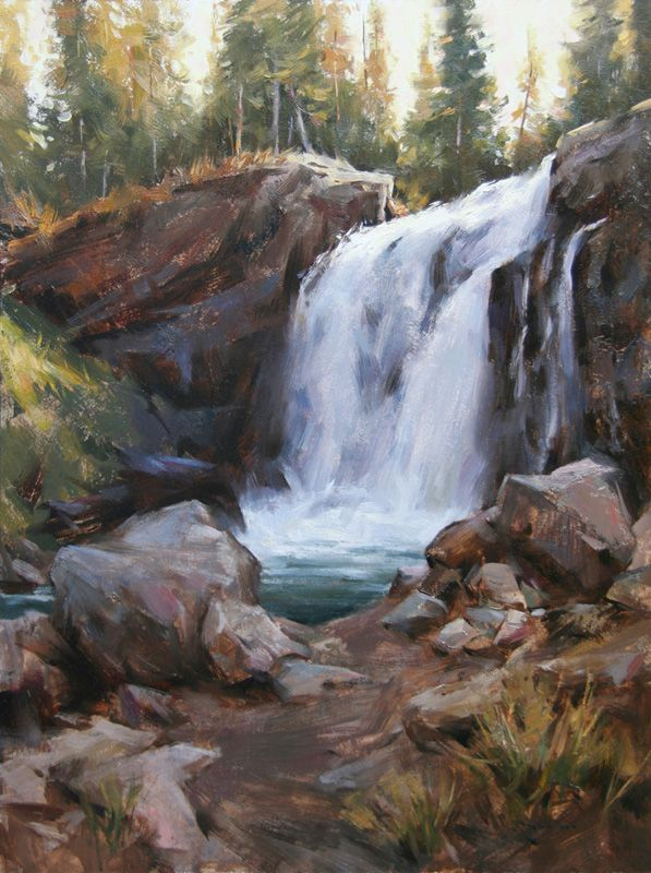 <b>Crawfish Creek Falls  •  Oil  •  24x18</b>