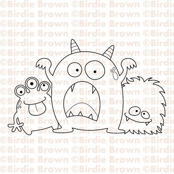how to draw doodle monsters