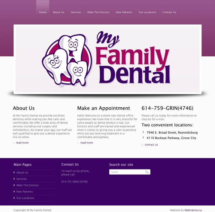 See the full website at www.myfamilydental.co