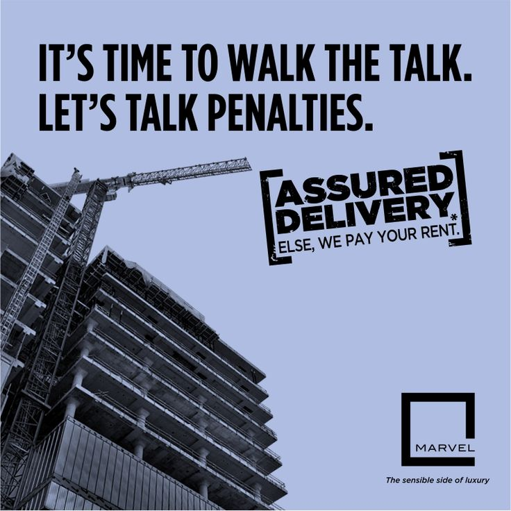 Marvel introduces Assured Delivery. A new initiative where we guarantee to deliver your dream home on time. If not, we will pay your rent. #‎AssuredDelivery‬ For more: http://bit.ly/AssuredDelivery