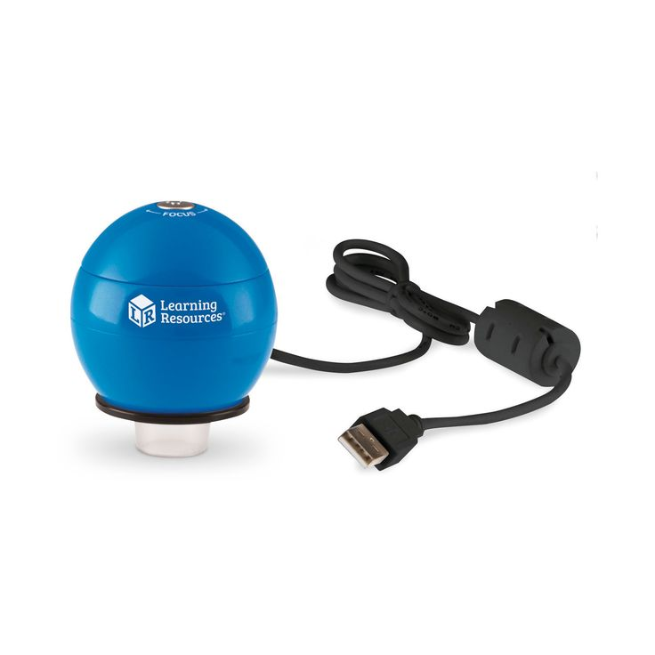 Learning Resources Zoomy 2.0 Blue Handheld Digital Microscope