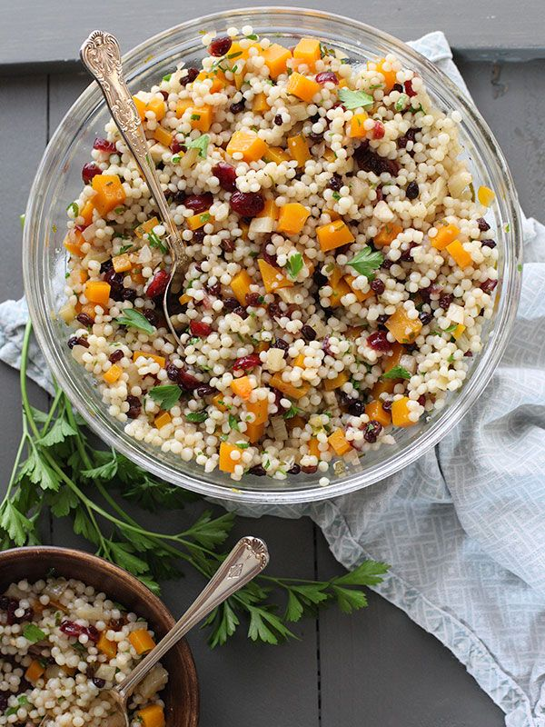 Autumn Couscous Salad with Butternut Squash and Cranberries #recipe on ...