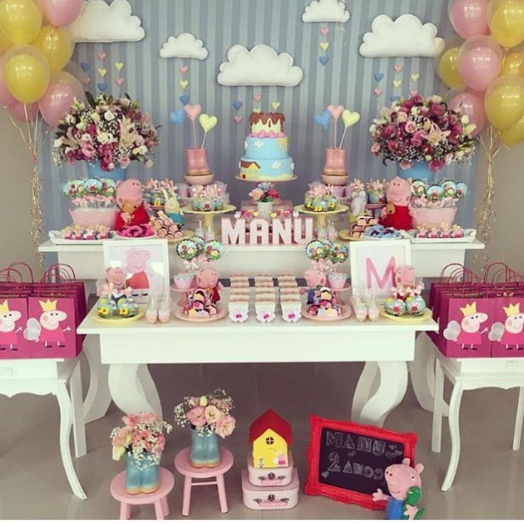 """""""Que amor Peppa Pig  Imagem do Ig @queridadata Decor @brunatilli  #mae_festeira #maefesteirapeppa  #festapeppapig"""""""