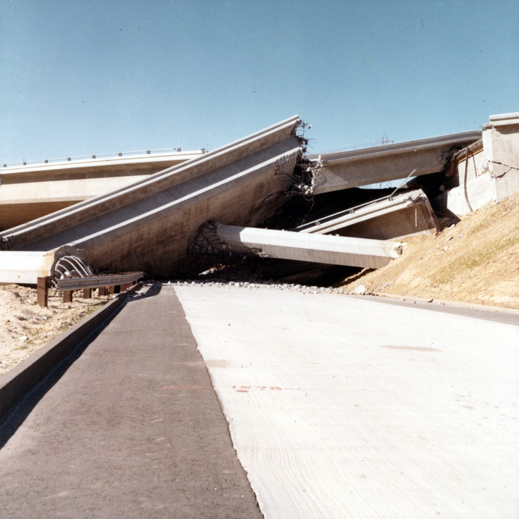 California Map Hwy 99%0A  San Fernando  California  Earthquake February Collapsed highway overpass   INTERSTATE   and