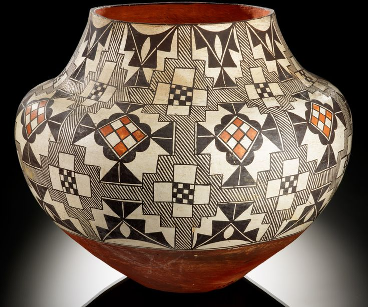Acoma polychrome jar  ca. 1900–1920  Acoma Pueblo, New Mexico  Clay, paint