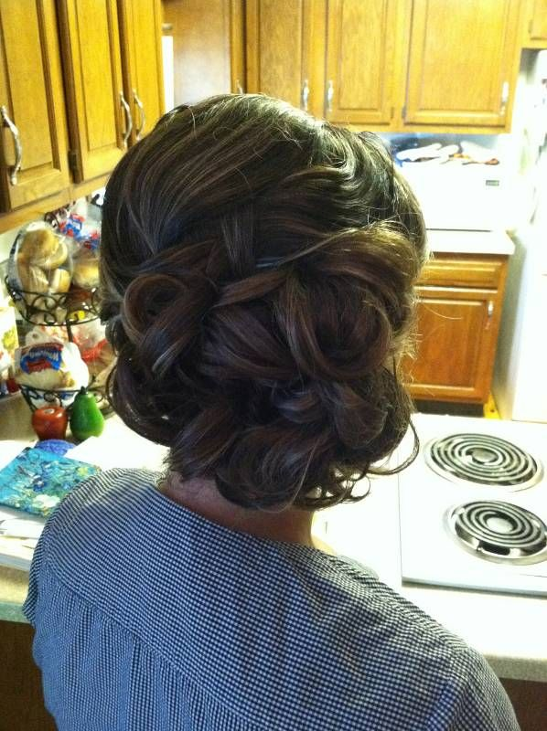 Bridesmaid hair. This looks almost identical to how my hair was done for my sisters wedding.