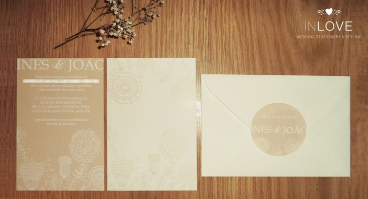{ I & J Every Flower Invitations } monofolha 10 x 15cm /// envelope c/ etiqueta circular