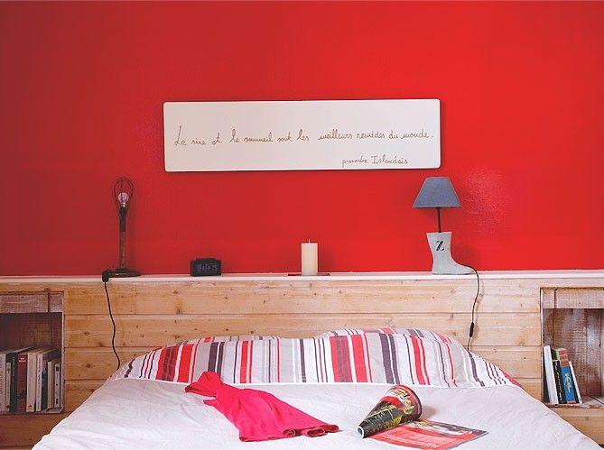 mon amour, je voudrais que tu nous construises une tête de lit de ce genre...