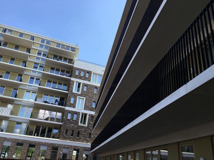 Blok 1, balkons achterzijde en blok 3 galerijen achterzijde