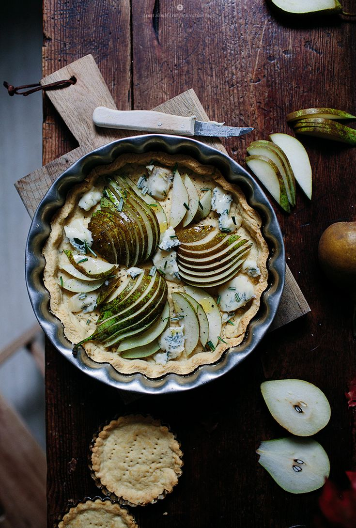 Pear and blue cheese tart with rosemary by Marta Greber