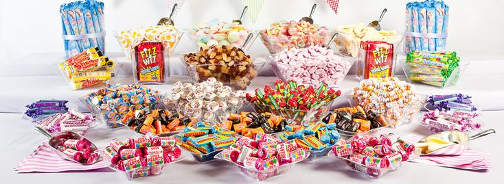 Sweet Buffets of Retro Sweets and Old Fashioned Sweets for weddings!