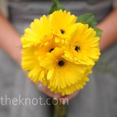 All yellow gerbera daisy bouquet