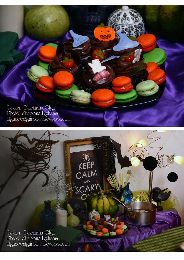 Baiciurina Olga's Design Room: Halloween table decoration-Оформление домашней вечеринки на Хэллоуин!