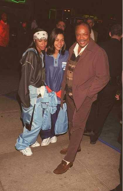Kidada Jones, Quincy Jones and Aaliyah