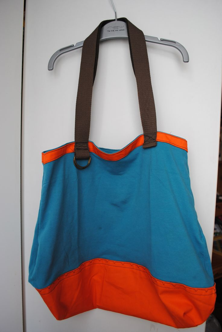 Recycling: bag made from used summer top, children belt, and some leftover fabric