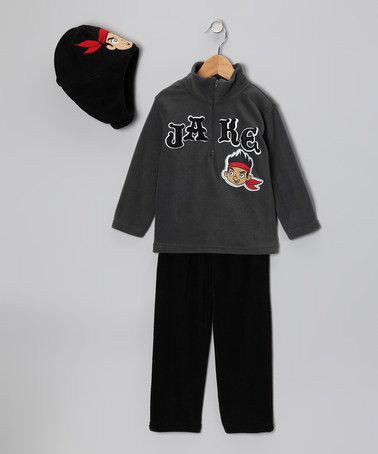 Take a look at this Gray & Black 'Jake' Hoodie Set - Infant & Toddler by Jake and the Never Land Pirates on #zulily today!