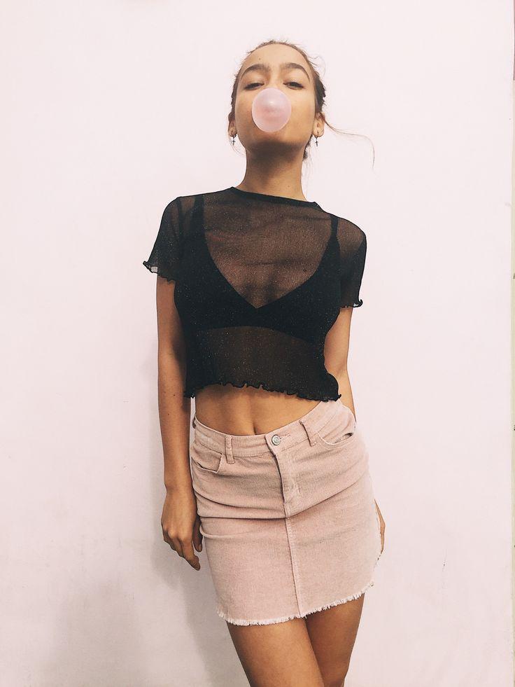 #brandyusa Porter Glitter Top | Asher Bralette | Juliette Corduroy Skirt