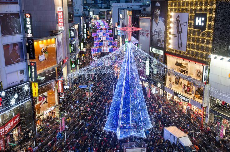 따스한 불빛으로 광복동을 환하게 비추는 성탄의 축복, 부산크리스마스트리문화축제 (제42회 관광사진공모전 김성기님 작품)