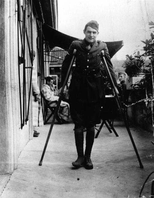 Ernest Hemingway, American Red Cross volunteer, recuperates from wounds at ARC Hospital, Milan, Italy, September 1918.: Arc Hospitals, Red Crosses, Ernest Hemingway, Hemingway Recuper, Famous Faces, American Red Cross, Milan Italy, 1918, Crosses Volunteers