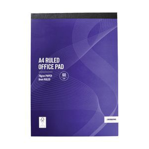 J.Burrows A4 Ruled Office Pad 120 Page Don't forget paper!