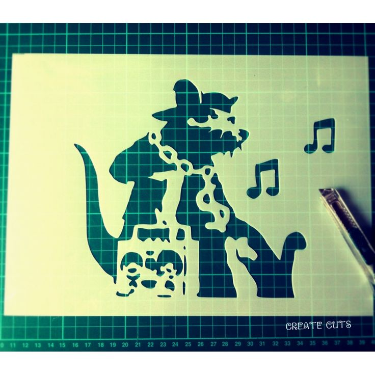 Banksy Ghetto Music Rat reusable stencil