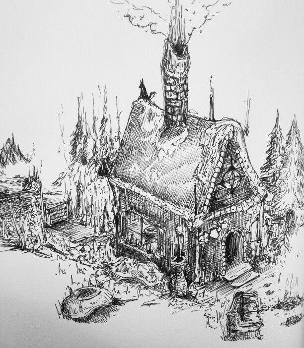 Hansel and Gretel house sketch #fairytale #hanselandgretel #house #sketch