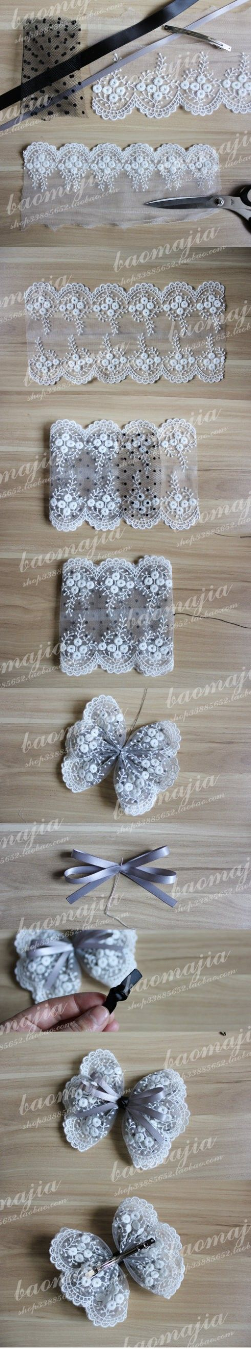 Cute lace bow how to