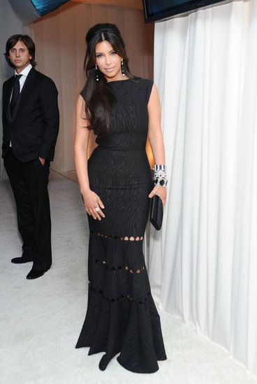 Kim Kardashian in Alaia, Elton John Oscar Party 2012