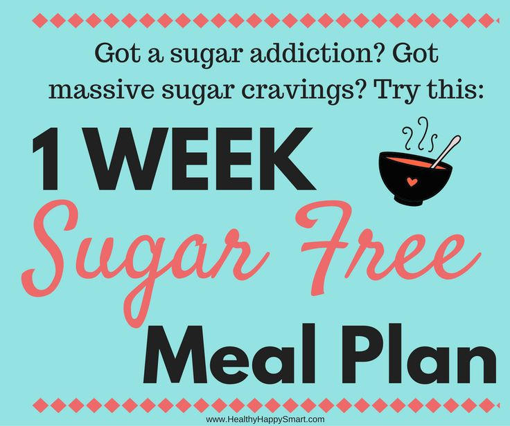 Got sugar cravings or sugar addiction? Try the sugar free diet plan - 7 day sugar free meal plan, eat clean, clean eating