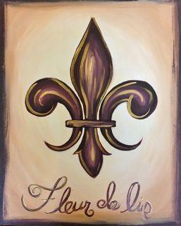 pics of painted fleur-de-lis on canvas   Painting Fleur de Lis