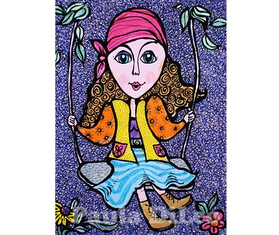 Girl Room Decor Wall Art Art For Kids Gypsy by AGirlAnOwlAndACat, $10.00