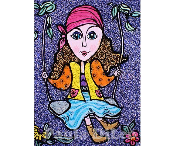 Girl Room Decor Wall Art Art For Kids Gypsy by AGirlAnOwlAndACat, $10.00