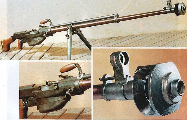 Soviet 14.5mm PTRS antitank rifle