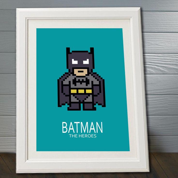 Affiche batman super heros poster d coration affiche - Affiche chambre garcon ...