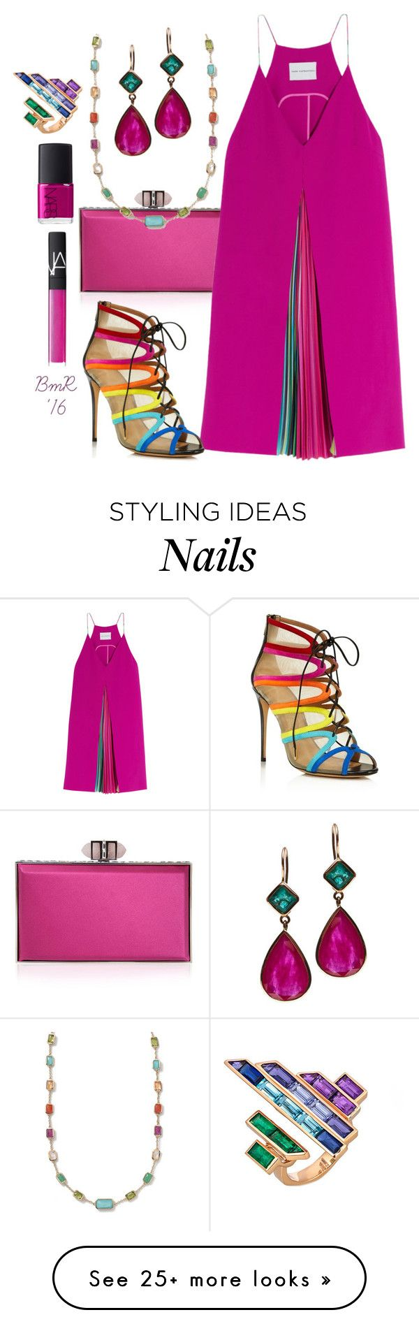 """Believe In Love"" by barbmama on Polyvore featuring Judith Leiber, Mary Katrantzou, Salvatore Ferragamo, Jade Jagger, Ippolita, NARS Cosmetics, Tomasz Donocik, women's clothing, women and female"