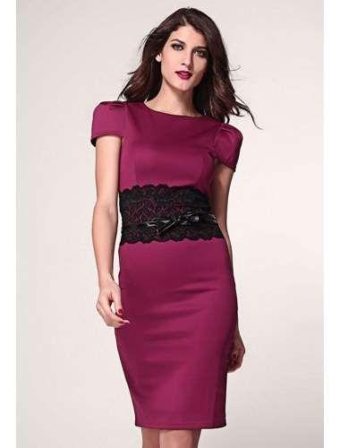 Burgundy Paper Dolls Lace Waistband Midi Dress with Belt | buy sexy Club Dresses , Club wear online in india | StringsAndMe