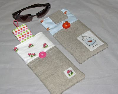 Sew Fantastic: Tutorial :: Summer Sunglasses Case--easy to resize--I made this as a flat iron cover