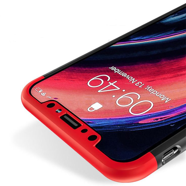 Bakeey™ 3 in 1 Double Dip 360° Full Protection PC Case With Tempered Glass Film for iPhone X Sale - Banggood.com