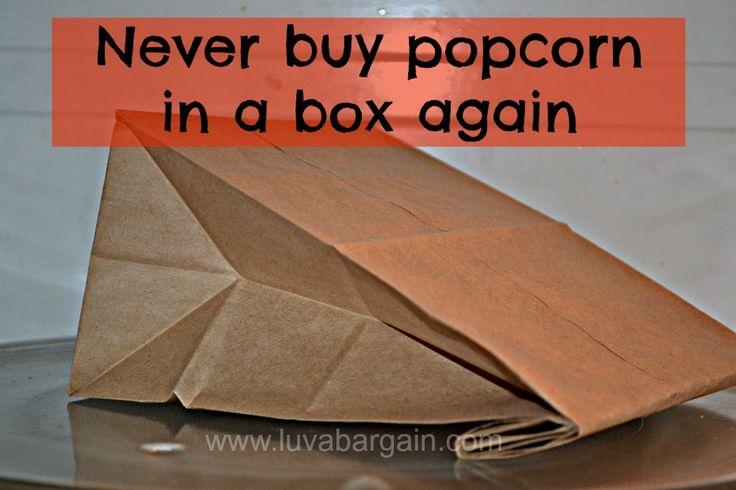 Homemade Microwave Popcorn - DIY Recipe