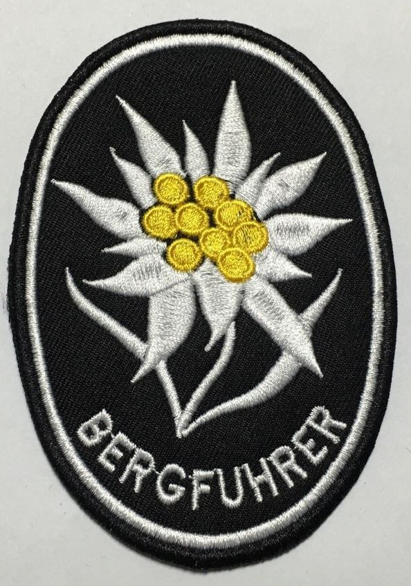 WWII GERMAN MOUNTAIN TROOPS ELITE EDELWEISS SLEEVE PATCH
