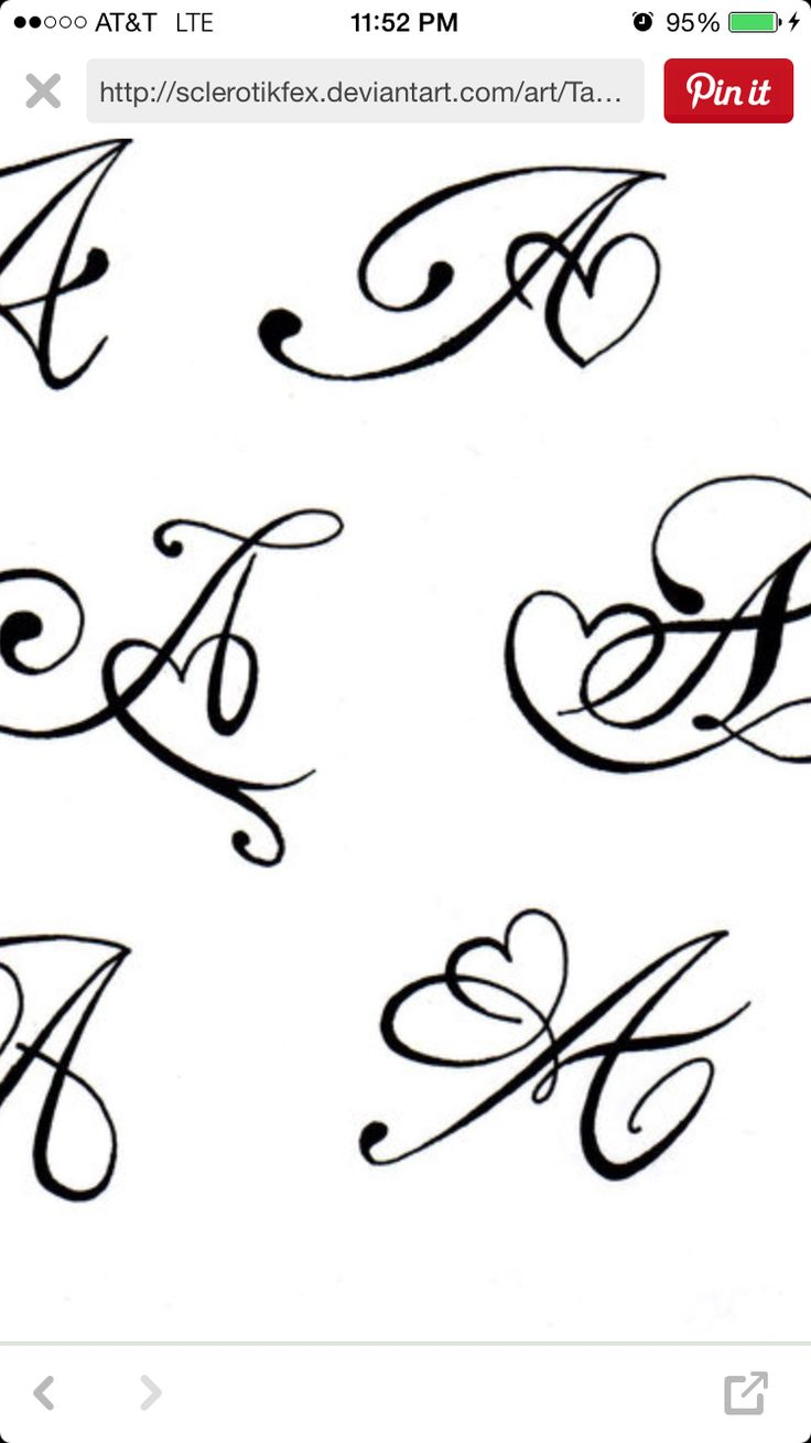 Henna Script: Thinking Of An M For My Daughter