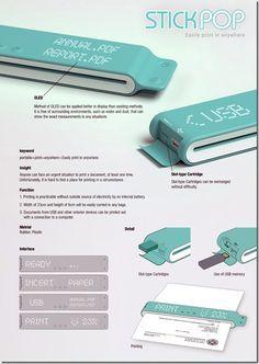 » Future technology devices concept – Portable printer Future technology