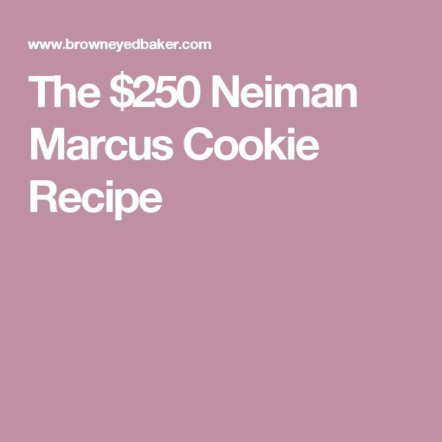 Neiman marcus cookies recipe snopes